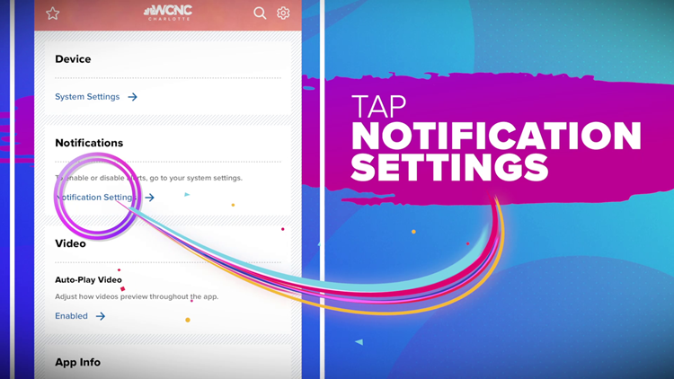 How to enable Olympic notifications on the WCNC Charlotte app