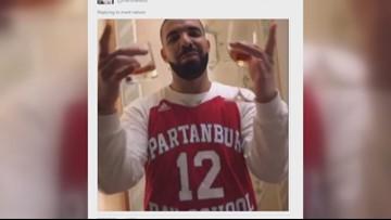 low priced 51f48 77791 Drake wears S.C. hoop star's jersey | wcnc.com