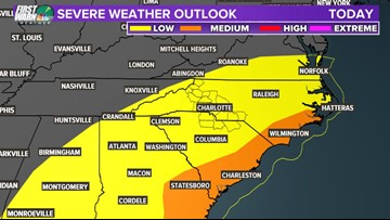 Stay weather aware: Showers and isolated storms in the region this evening