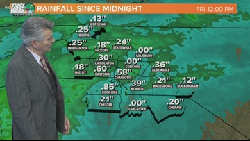 Friday's rain will give way to a pleasant and sunny weekend