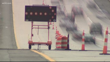 NCDOT: I-277 lane closures around uptown to be in place through the end of the year