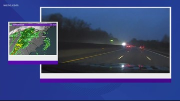 Rain could lead to problems on the roads