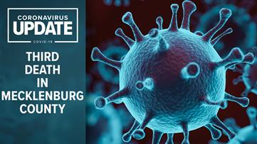 Third coronavirus patient dies in Mecklenburg County
