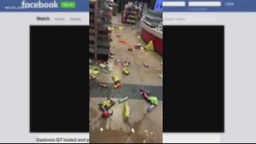 Gastonia gas station ransacked, clerk injured