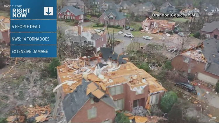 At least 5 dead after possible tornado in Alabama