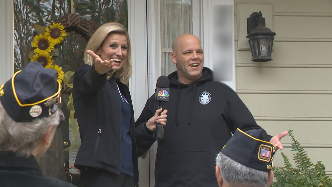 """""""I'm really, really shocked!""""  Matthews soldier surprised by brand new car"""