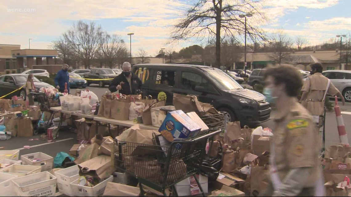 Scouting For Food drive collection day on Saturday