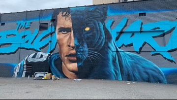 Kuechly mural attracting attention