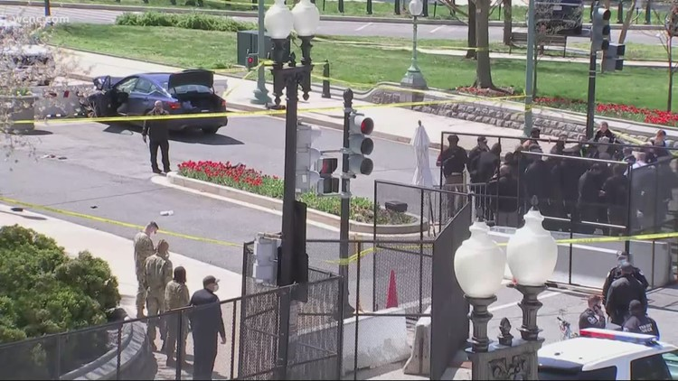 Man rams car into 2 U.S. Capitol police; 1 officer, driver killed