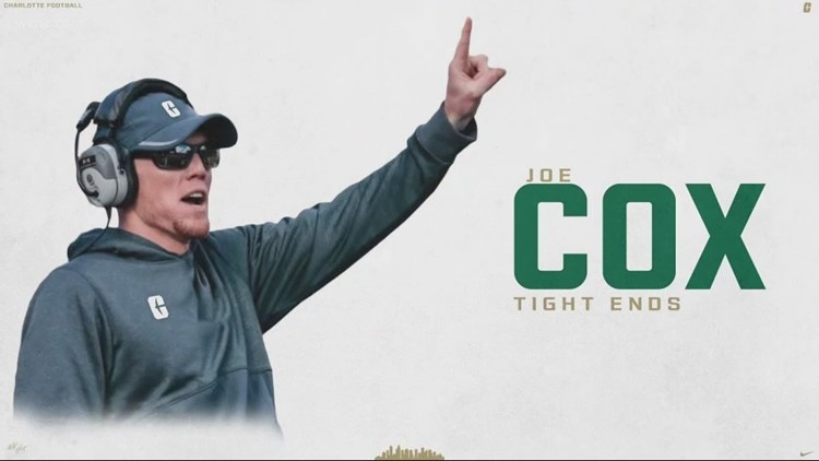 Local H.S. football legend Joe Cox comes home to coach with Charlotte 49ers