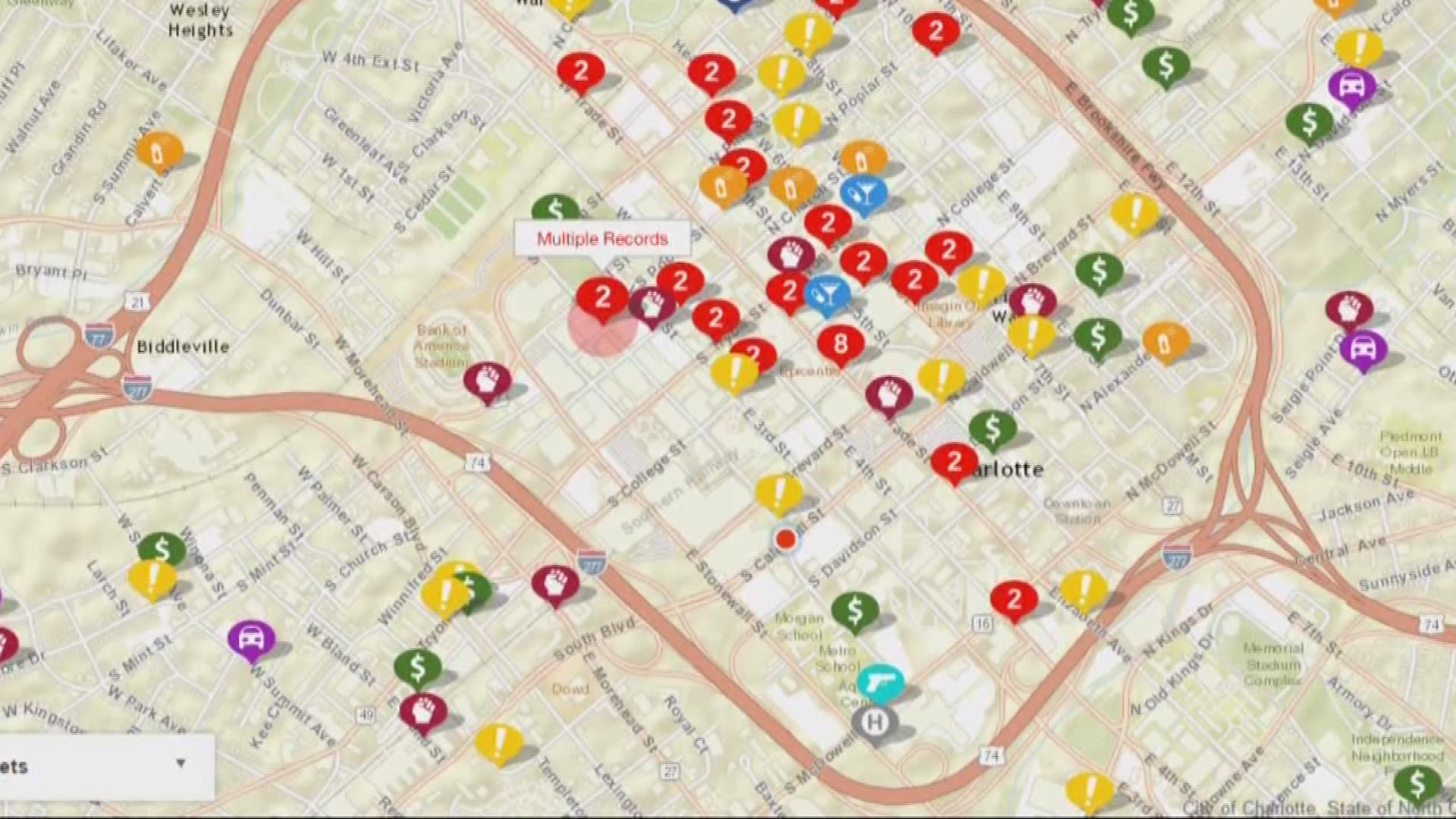 New Numbers Map Out Uptown Crime Wcnc Com