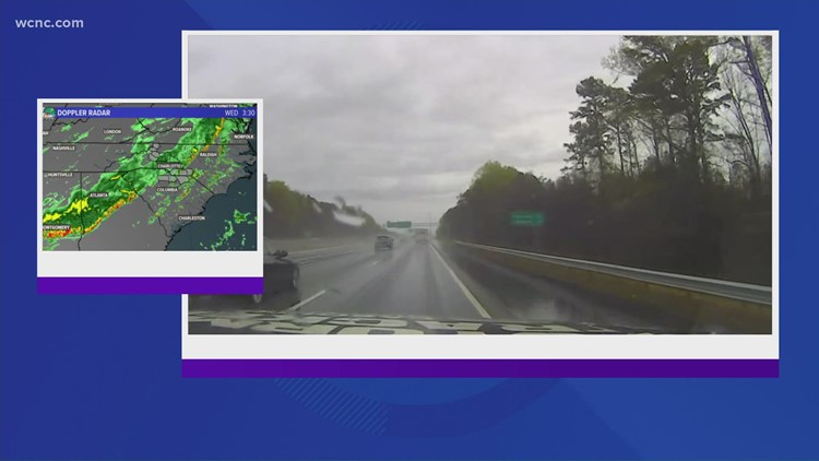 Evening weather causing some problems on the road