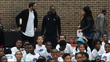 Kemba Walker debuts upgraded basketball court at McCrorey YMCA