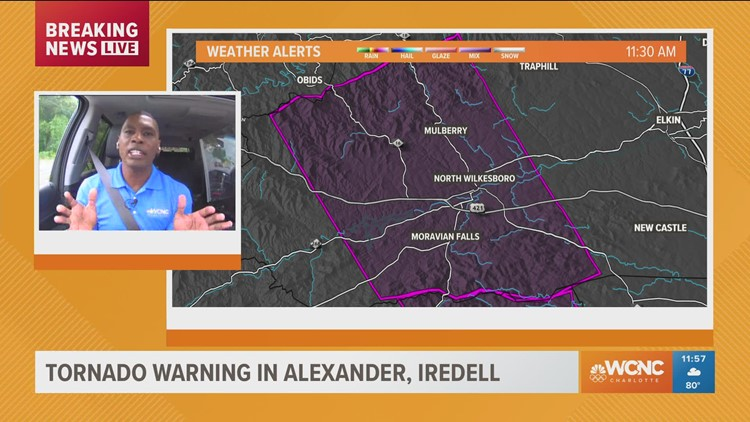 Tornado Warning in effect for Alexander County, NC