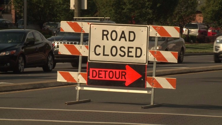 According to transportation officials, the roads are expected to remain closed for another two or three hours.