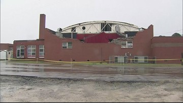 NC school damaged after severe weather