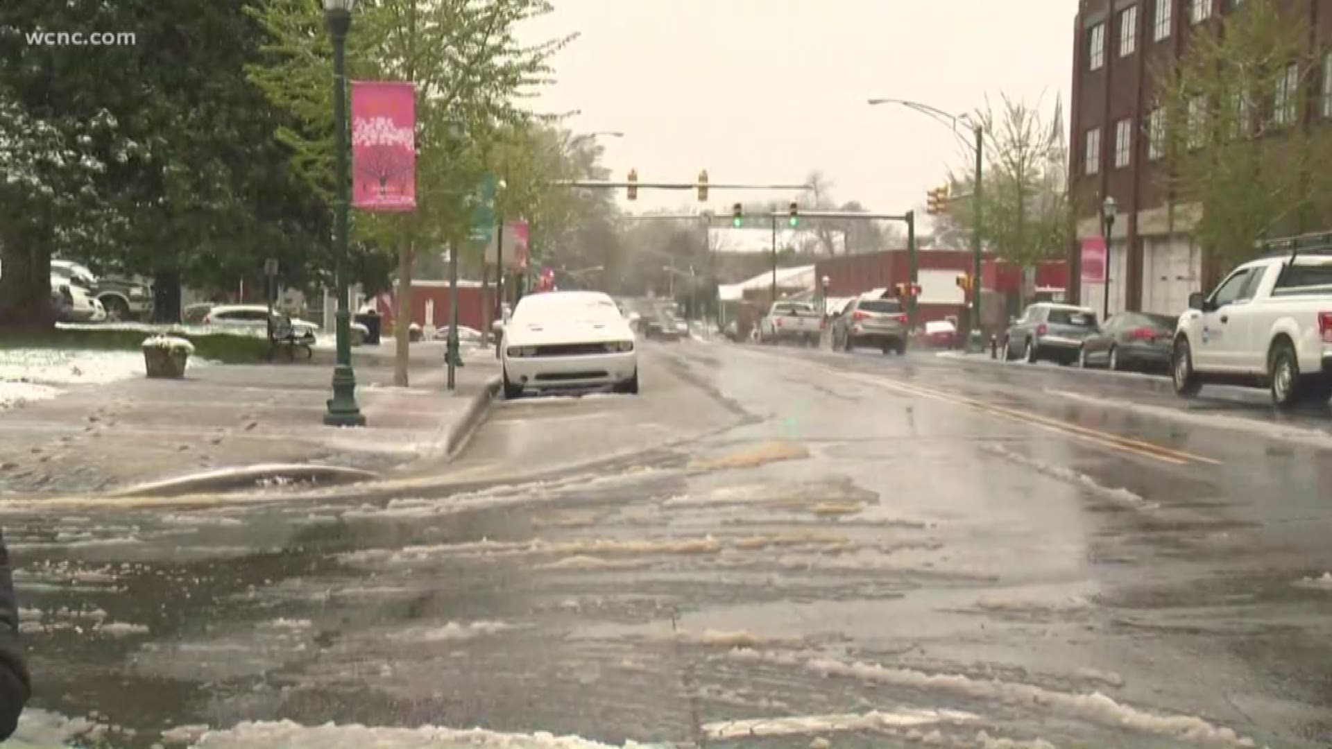 Charlotte Sees First Measurable April Snow In 37 Years Wcnc Com