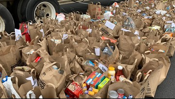Scouting For Food drive collects thousands of donations for Loaves and Fishes