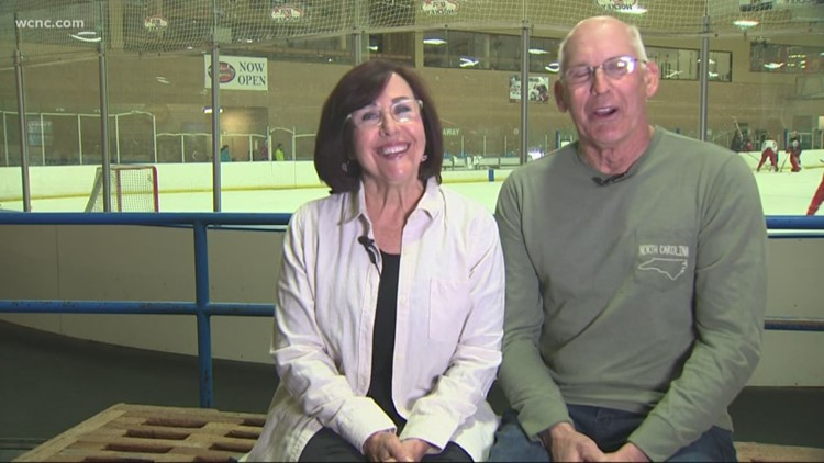 Salisbury couple wins free trip to Canada at Checkers game after husband finishes chemo