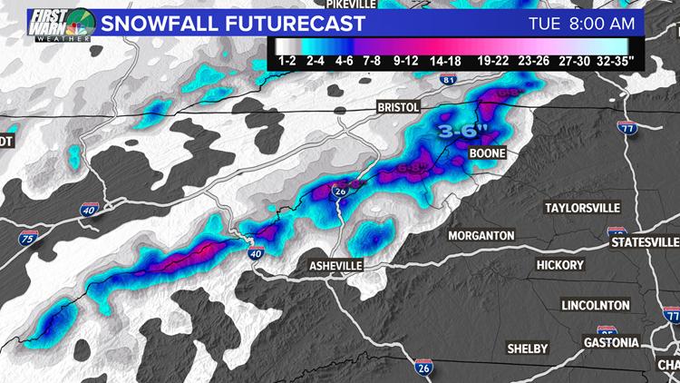 Snow futurecast