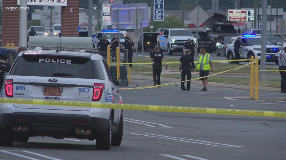 CMPD searching for suspect vehicle after shoot-out injures baby, teenager