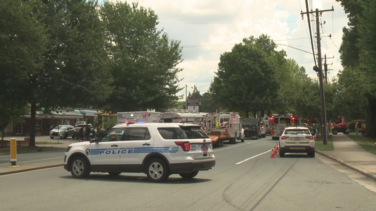 Gas leak shuts down Central Ave in southeast Charlotte