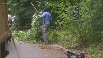 Volunteers clean up abandoned Cedar Grove Cemetery in Charlotte