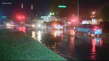 Water main break blocks west Charlotte road