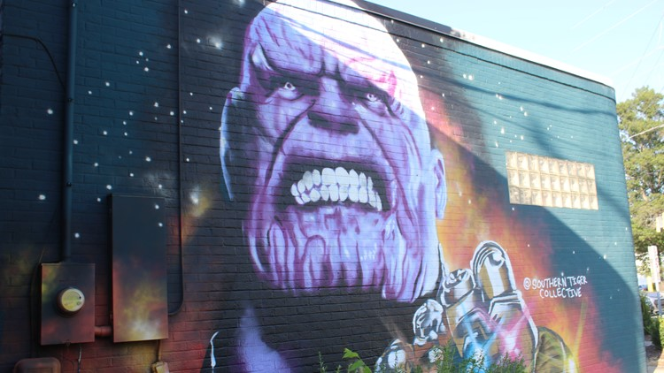 Thanos mural -- Southern Tiger Collective