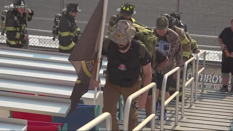 9/11 first responders honored in stair climb at Charlotte Motor Speedway