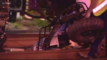 Person seriously injured after light rail train hits ATV
