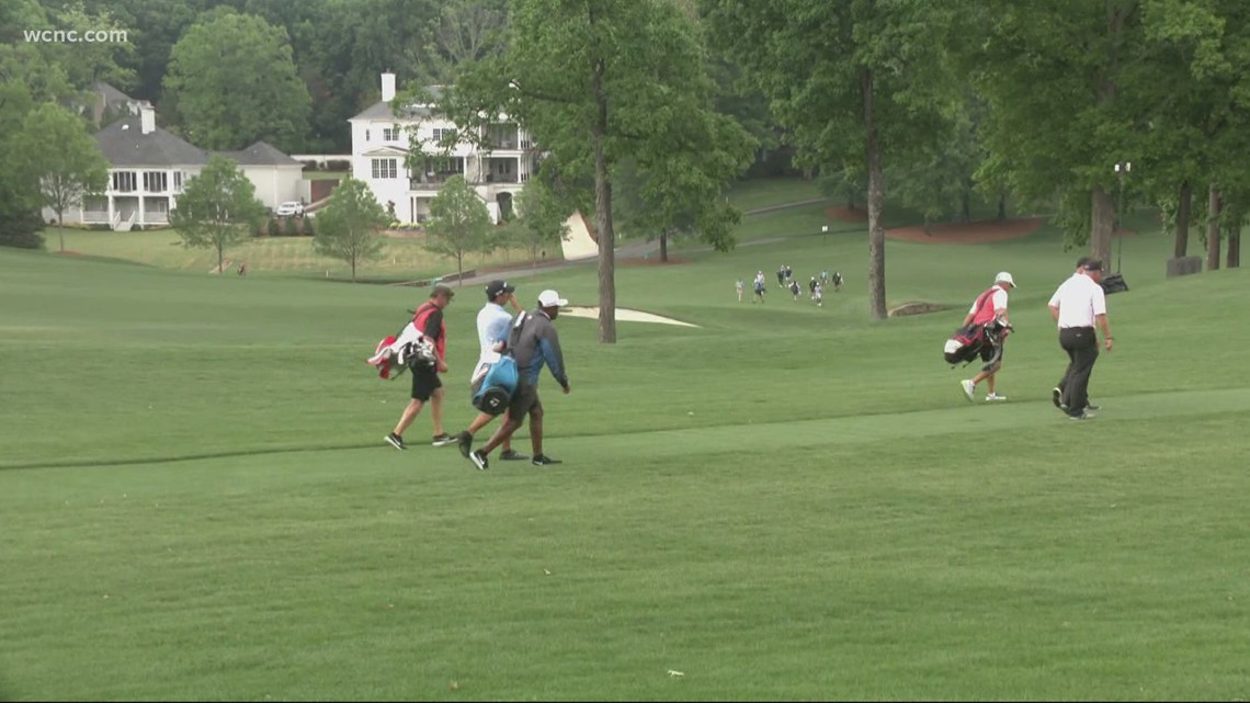 Taking a look at the first day of the Wells Fargo Championship