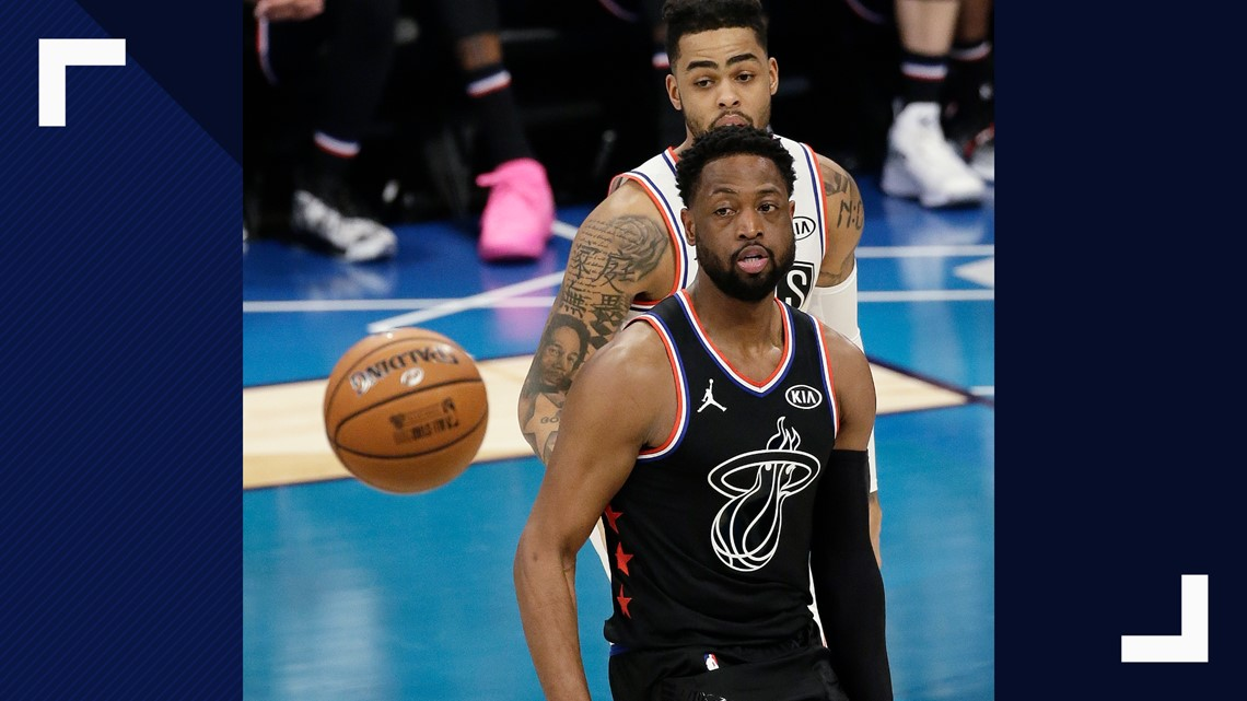 6ff1dd8b7ad1 ... moves toward the ball against Team Giannis during the first half of an NBA  All-Star basketball game