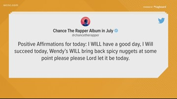 Chance The Rapper helps bring spicy chicken nuggets back to Wendy's