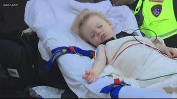 'I did not think I was going to get him back' | Fort Mill child nearly drowns falling in pool