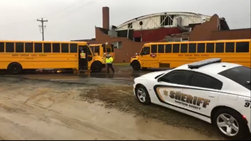 'We saw a part of the gym fly across the window' | Roof collapses at school in Sampson Co.