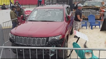Hurricane Dorian Jeep makes an appearance at Pennzoil AutoFair