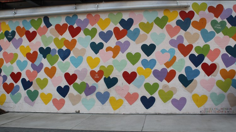 Confetti Hearts Wall -- Evelyn Henson