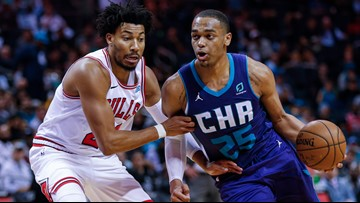 Washington nets 27, Hornets beat Bulls 126-125