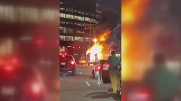 RAW: Food truck fire in South End