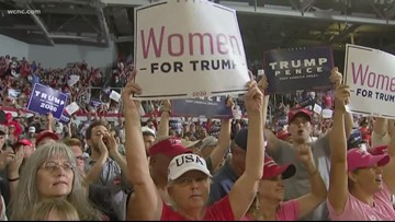 NC District 9 candidates react to Trump rally