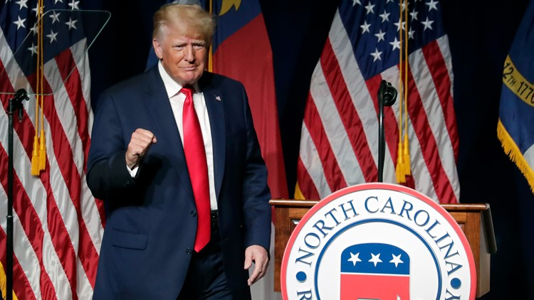 Trump speaks at NCGOP convention; endorses Rep. Ted Budd for Senate