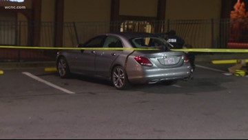 Man hurt after shots fired into vehicle near Carowinds, police say