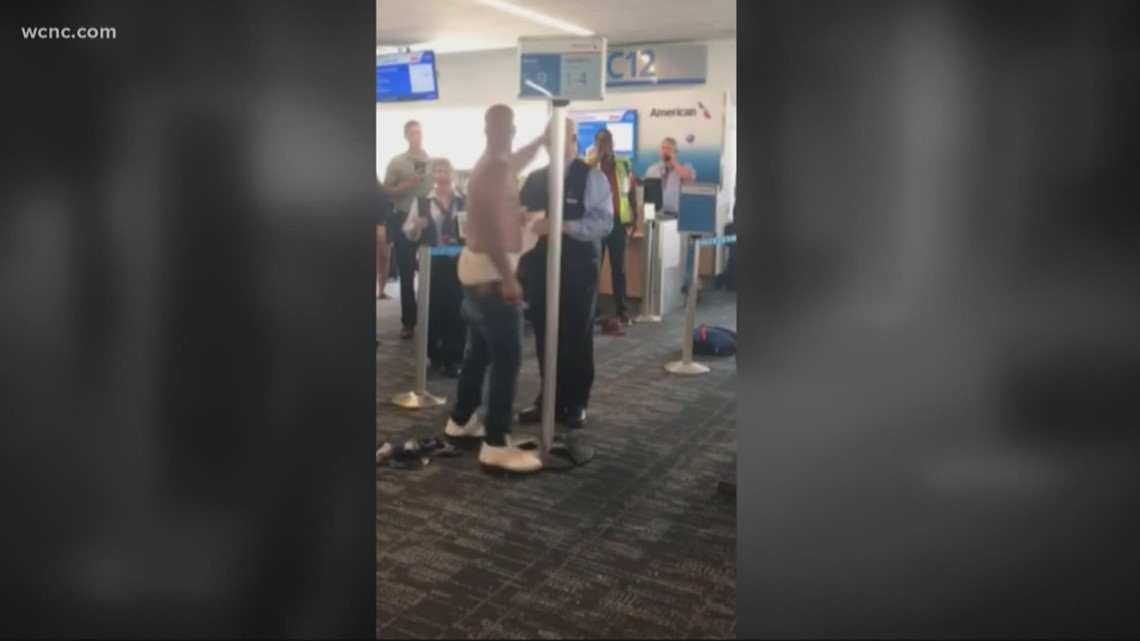 Image result for Man arrested after crazy outburst at airport