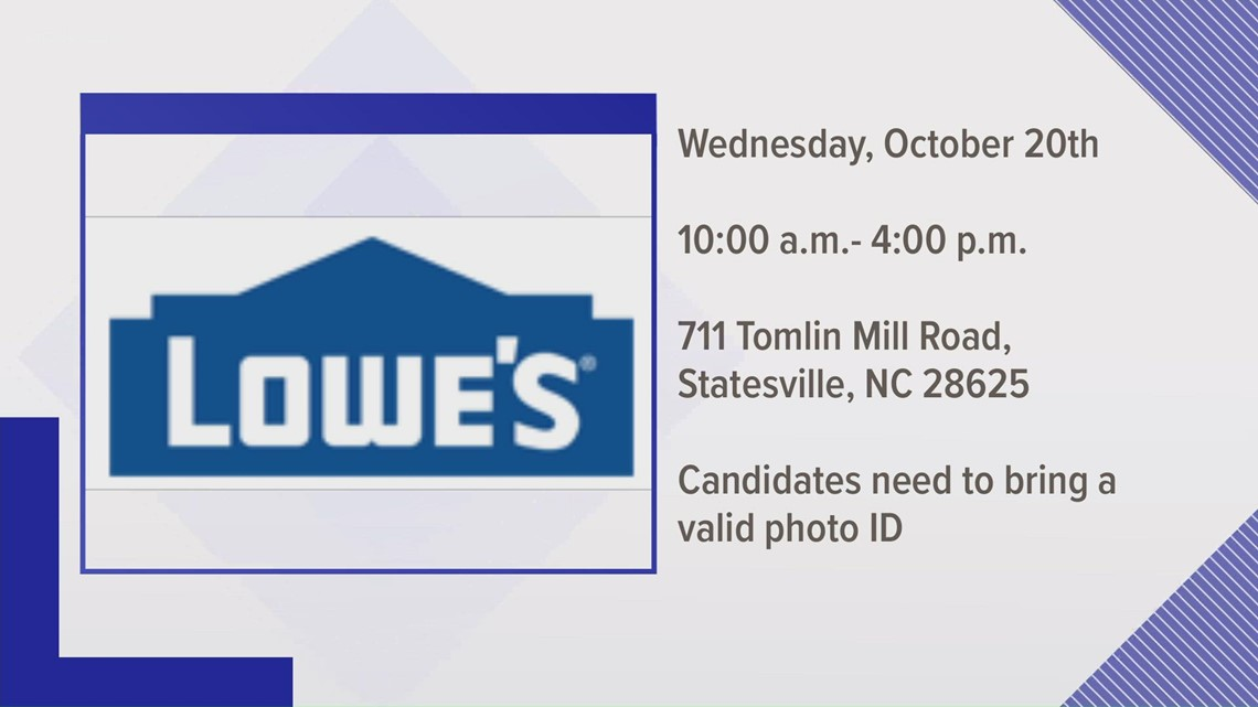 Lowe's hosting hiring event Wednesday