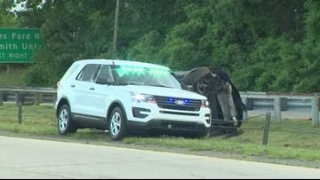 Single-car crash leaves one dead, three injured on Brookshire Boulevard