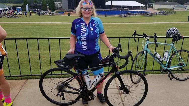 Mary Swenson with bike