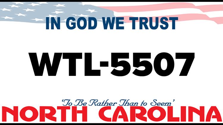 Charles William Whitner missing license plate