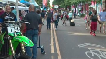 Crowds enjoy Speed Street in uptown Charlotte