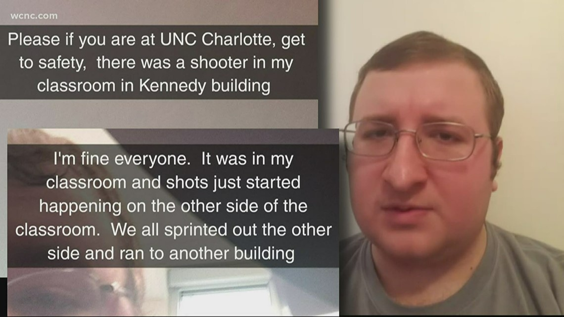 UNC Charlotte shooting survivor shares his story